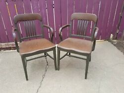 Shaw Walker Pair Armchair Chair 1940andrsquos-60and039s Aluminum And Leather