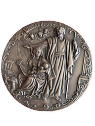 Christmas / Nativity 1983 / Artistic Portugal Bronze Medal By Antunes. 95mm...