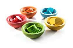 Sort And Count - Natural Wood Baby Toy Montessori Toy Educational Toys Wooden T