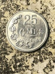 1963 Luxembourg 25 Centimes 7 Available High Grade Beautiful 1 Coin Only