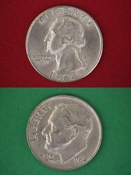 Make Offer 20.00 Face Silver Roosevelt Dimes And Washington Quarters Junk Coins