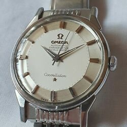 Vintage Omega Constellation Cal.551 Pie Pan Silver Dial Automatic Men's Watch