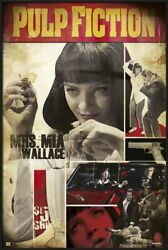 Pulp Fiction - Framed Movie Poster Mrs. Mia Wallace - Montage Size 25 X 37