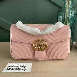 New Marmont Shoulder Bag Flap Light Pink Small