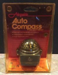 Vintage Auto Compass Airguide Made In Usa The Scottsdale Push Button Light Nip