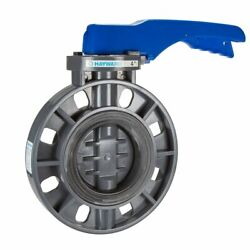 Hayward Byc1040e1lgb Pvc Lever Operated Byc Series Butterfly Valves, 4-inch,