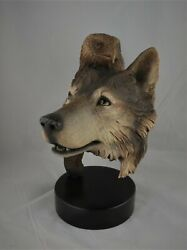 Spirit Totem' Fine Art Wolf Sculpture By Rick Cain, Limited Edition 834/2000