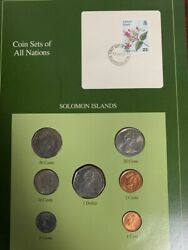 Coin Sets Of All Nations Solomon Islands 7 Coins Set 10c 1988 5c 1981 Rare