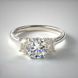 Excellent 1.00 Ct Natural Diamond Anniversary Ring Solid 14k White Gold Size 8 9