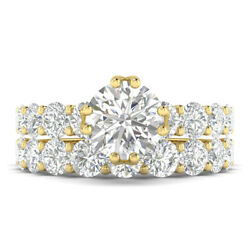 2.8ct E-vs2 Diamond Vintage Engagement Ring 18k Yellow Gold Any Size
