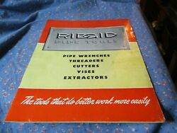B. Vintage Booklet 1940 16 Pages Rigid Pipe Tools Pipe Wrenches Threaders Cutte