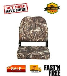 98395camo Low-back Padded Boat Seat Camo High-impact Plastic Frame 7wx16dx16h