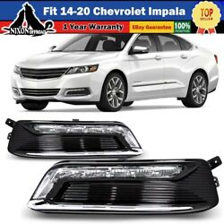 Fit 14-20 Chevrolet Impala Led Drl Fog Lights Day Running Lamp Wiring Kit Switch