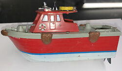 Vintage Ideal Motorific 1966 Mighty Blaze Fireboat For Fix Up Or Parts