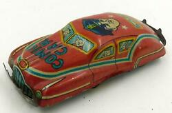 Vintage Tin Japanese Free-rolling Penny Toy-policeman Comic Car