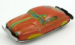 Large 1950's Vintage Japanese Tin Penny Toy Car- Red- Cute Animals Driving