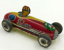 Vintage Japanese Tin Penny Toy Lion Race Car With Driver