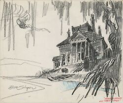 Scooby Doo 1976 Dupre Production Background Drawing Hanna Barbera Bob Singer