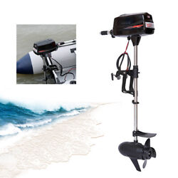 60v Outboard Electric Motor Engine For Inflatable Fishing Boat Canoes 2200w Usa