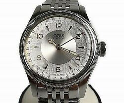 Oris Big Crown Pointer Date Aviation 7696-40 Automatic Menand039s Silver Dial 40 Mm