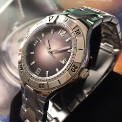 Mens Relic Watch From Fossil Quartz Steel Black Silver Dial Genuine