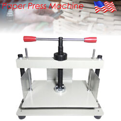 A4 Size Manual Flat Paper Press Machine For Nipping Bills/books/invoices New