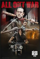 The Walking Dead - Framed Poster Season 8 Characters - All Out War 25 X 37