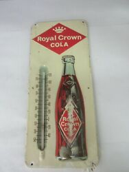 Vintage Advertising Royal Crown Cola Metal Store Thermometer R C Cola A-377