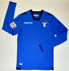 6843 Macron Ss Lazio Shirt Competition Goalkeeper Away 2014 2015 Patch Serie A