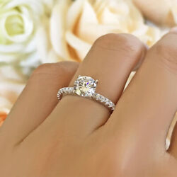 Natural 1.05 Ct Diamond Beautiful Wedding Ring Solid 14k White Gold Size 5 6 7 8