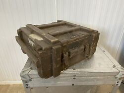 Vintage 1950's Military Wooden Ammo Storage Box Crate Empty