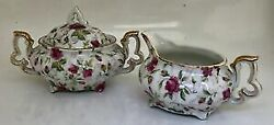 Kitchen Utensils Tableware Cookware Pottery Vintage Lefton Hand Painted Chintz