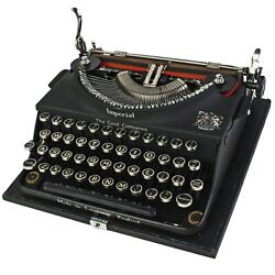 Vintage Imperial Typewriter Black Good Companion W/ Case Professionally Serviced