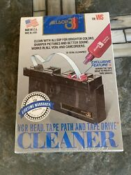 New And Sealed Allsop 3 Vcr Head Tape Path And Tape Drive Cleaner - Model 61000