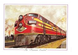 Vintage Print Train Panna Limited Illinois Central Chicago New Orleans Diesel 6