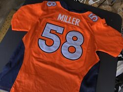 100 Authentic Denver Broncos 58 Von Miller Nike Jersey Sz 52 New With Tags