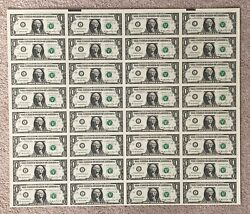Scarce 2006 $1 32 subject Uncut Sheet LA W Block only 7000 sheets made