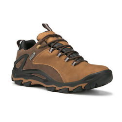 Mens Waterproof Hiking Boots Backpacking Lightweight Outdoor Work Boots Low Top