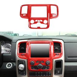 1x Center Console Navigation Screen Panel Cover Trim For Dodge Ram 2011-2017 Red
