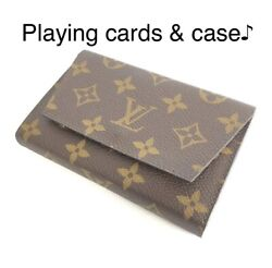 Louis Vuitton M58648 Monogram Playing Card And Case I737 Japan Used Ems