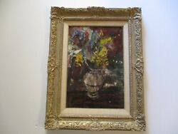 Mid Century Charles Levier Oil Painting Rare Still Life Early Modernism Abstract