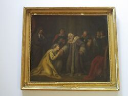 Antique 19th Century Attributed To John Hamilton Mortimer Painting Iconic Rare