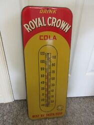 Vintage Advertising Royal Crown Cola Thermometer Soda Fountain Store A-407