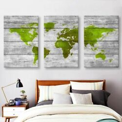 Fresh Green Prints Wall Arts Pictures Oil Paintings Canvas Eye Of The World Maps