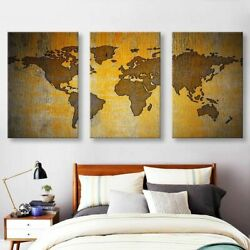 Canvas Wooden Ethical Frosted Vintage And Home Decorations Old World Maps Prints
