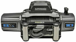 Superwinch Sx10000 12vdc Winch 10000lbs Single Line Pull 85' Steel Cable 5.5 Hp