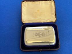 Antique Solid Silver Cigar Case - Given As A Royal Gift By Queen Victoria - 1896