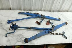 64 Ford 4000 Diesel Tractor 3 Point Hitch Lower Arms Right Left Supports