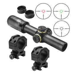 Ncstar 1-6x24 Str 30mm Glass Etched Rifle Scope + Mounts Fits Picatinny Rails