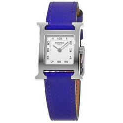 New Hermes H Hour Quartz Small Pm Electric Blue Womenand039s Watch 038915ww00